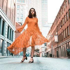 Midi-jurken