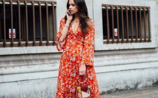 Maxi-jurken met print