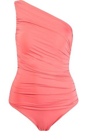 Brigitte One shoulder draped swimsuit