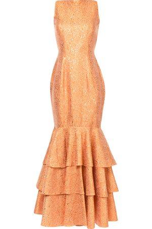 Bambah Double ruffle gown