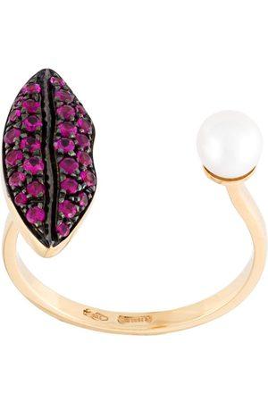 DELFINA DELETTREZ Lips piercing' ruby ring