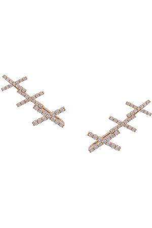 ALINKA 18kt gold KATIA diamond cuff earrings