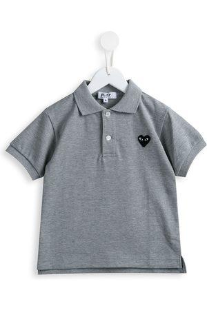 Comme des Garçons Jongens Poloshirts - Heart patch polo shirt