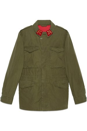Gucci Coated parka with logo