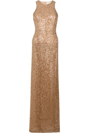 GALVAN Sequin racer-back dress