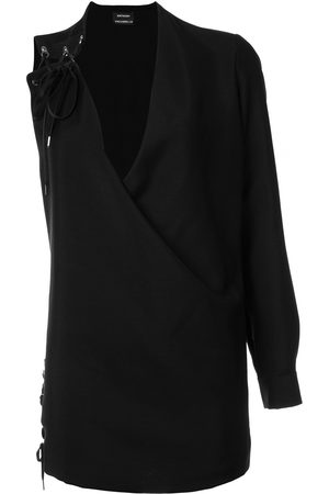 Anthony Vaccarello One sleeve lace-up dress