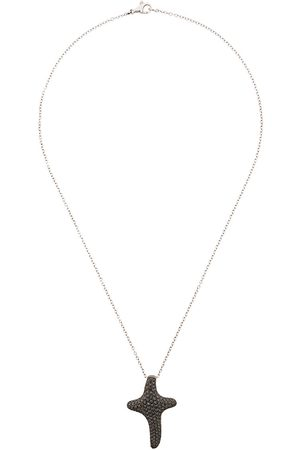 Gavello 18kt white gold diamond cross necklace