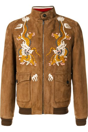 Gucci Dragon embroidered jacket