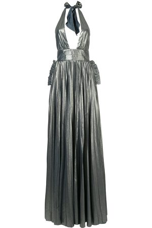 MARIA LUCIA HOHAN Halterneck pleated design gown