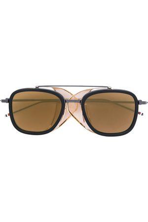 Thom Browne & Gold Mesh Side Sunglasses