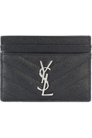 Saint Laurent Monogram grained-leather cardholder