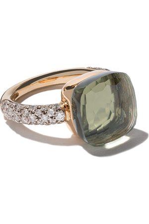 Pomellato 18kt rose & white gold Nudo prasiolite & diamond ring