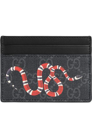 Gucci Kingsnake print GG Supreme card case