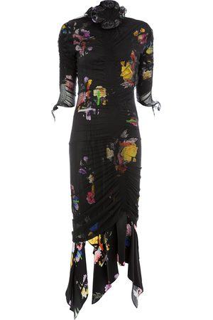 THORNTON BREGAZZI Dames Feestjurken - Floral print ruche detail dress