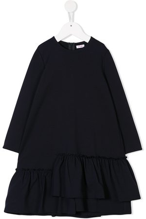 Il gufo Loose fitted frilled dress