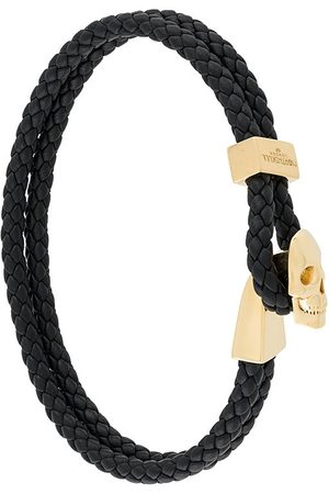 NORTHSKULL Braided leather skull bracelet