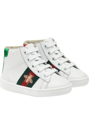 Gucci Toddler's leather high-top sneakers