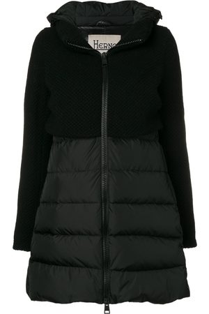 HERNO Contrast panel puffer jacket