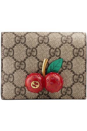Gucci GG Supreme card case with cherries