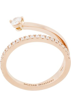 DELFINA DELETTREZ 18kt champagne gold Marry Me diamond ring