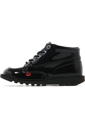 Kickers Kick Hi Junior, Black Patent