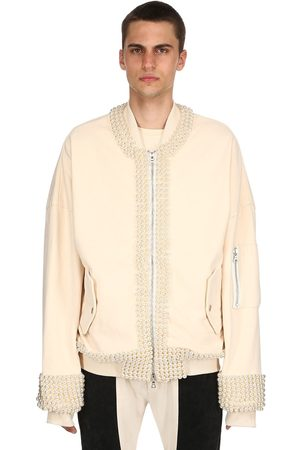 ARNODEFRANCE EMBELLISHED HEAVY COTTON BOMBER JACKET