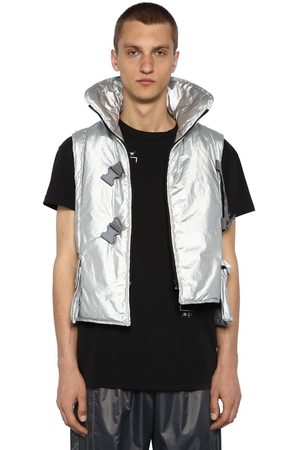 A-cold-wall* Metallic Nylon Padded Cropped Vest