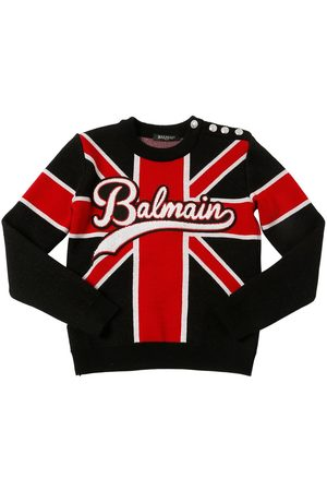 Balmain UNION JACK WOOL KNIT SWEATER