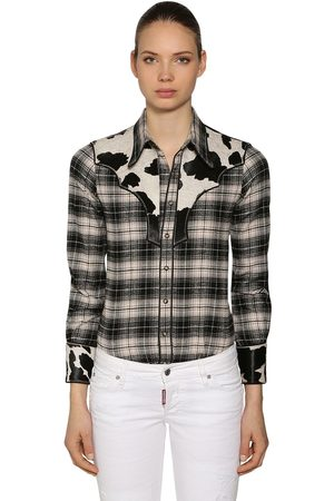 Dsquared2 Dames T-shirts - Rodeo Cotton Plaid Shirt
