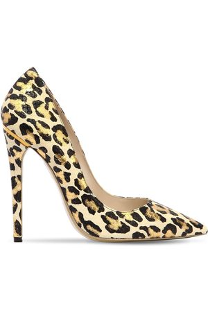 Ernesto Esposito 115MM PRINTED LEATHER PUMPS