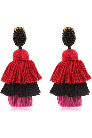 Oscar de la Renta Dames Oorbellen - SILK TIERED TASSEL CLIP-ON EARRINGS