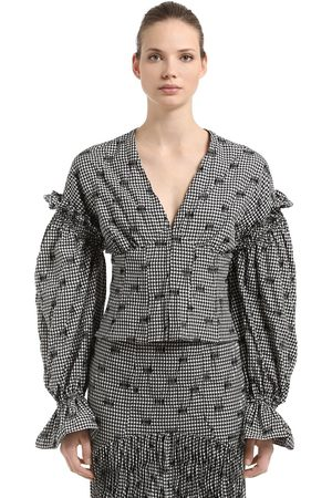 JONATHAN SIMKHAI Dames Tops & T-shirts - SMOCKED GINGHAM CORSET TOP