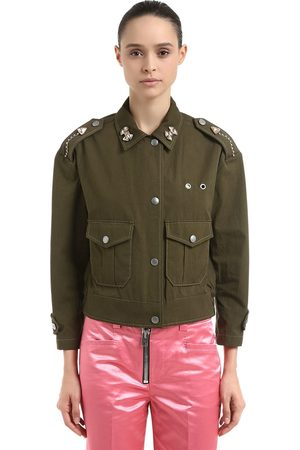Coach EMBELLISHED COTTON FIELD JACKET