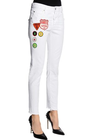 Dsquared2 Meisjes Jeans - COOL GIRL SCOUT PATCHES DENIM JEANS