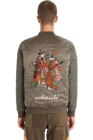 Maharishi REVERSIBLE SILK & NYLON BOMBER JACKET