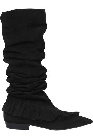 Mays and Rose 10MM RUFFLE SUEDE BOOTS