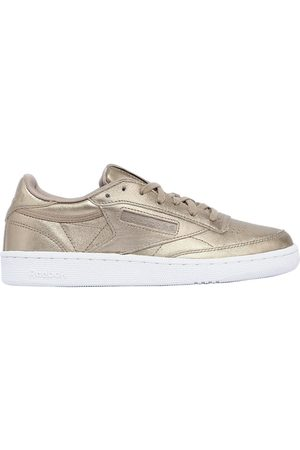 Reebok CLUB C 85 HYPE METALLIC LEATHER SNEAKERS