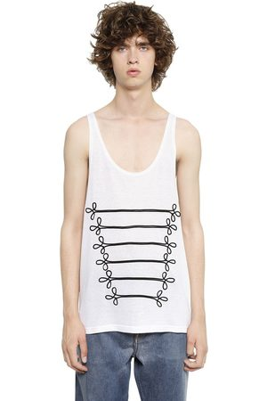 PORTS 1961 MILITARY DETAILS COTTON BLEND TANK TOP