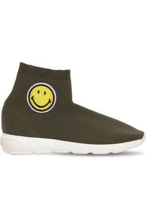JOSHUA SANDERS Meisjes Instappers - Smiley Patch Knit Slip-on Sock Sneakers