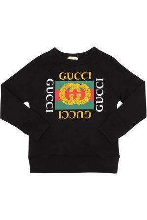 Gucci Logo Printed Cotton Sweatshirt