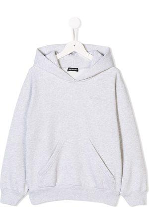 Balenciaga Logo embroidered hoodie