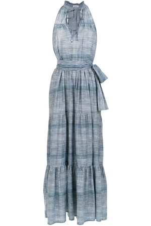 AMIR SLAMA Long denim dress