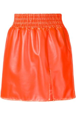 Miu Miu Leather flared mini skirt