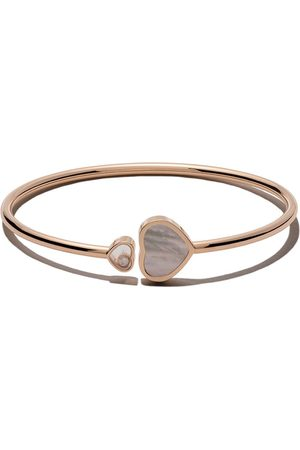 Chopard 18kt Happy Hearts mother-of-pearl and diamond bangle