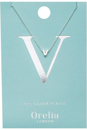 Orelia Kettingen Necklace Initial V