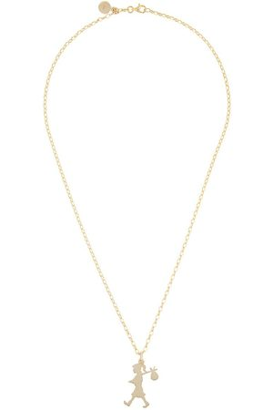Karen Walker 9kt gold large Runaway Girl pendant necklace