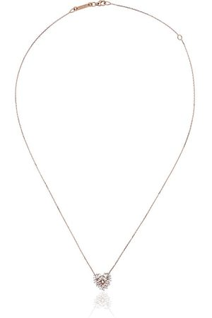 Suzanne Kalan 18kt rose heart diamond necklace