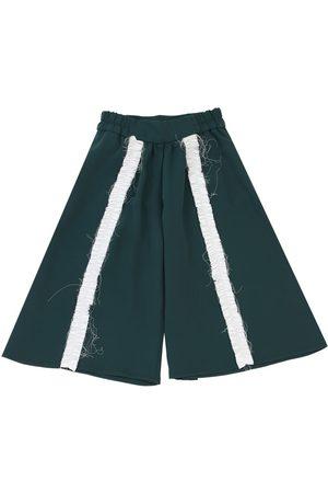 MUMMYMOON Crepe De Chine Pants W/ Ruffles