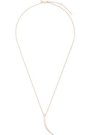 SHAUN LEANE Tusk pave diamond pendant