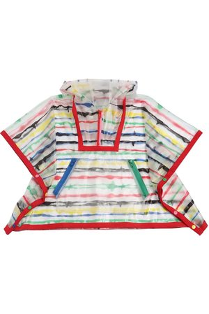Stella McCartney Stripe Printed Pvc Rain Poncho